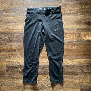 Nike women black tights dry fit size S